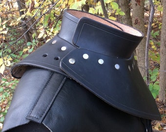 Leather armor gorget SCA LARP