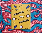 Milhouse Hedberg - Simpsons + Mitch Hedberg zine, simpsons book, simpsons zine, simpsons art, comedian, comedy book, art book, art zine,