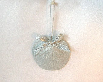 Silver Sand Dollar Ornament