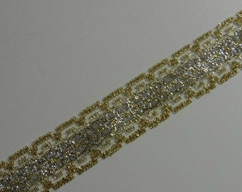 Gold and Silver Tinsl Ribbon 4 Yards