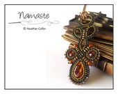 Beading Pattern, Instructions, Tutorial, Cubic Right Angle Weave, CRAW shaped, loopy Pendant Instant Download NAMASTE