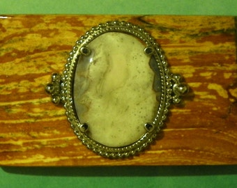 Splated Apple and agate Belt Buckle  #1023