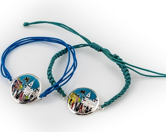 Saint Louis Cathedral and Jazz Band Sterling Silver Bracelet