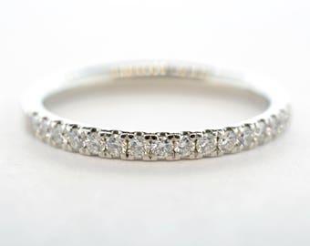 Platinum .25ctw Diamond Wedding Band- Size 5