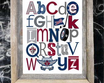 WINNIPEG JETS abc art print