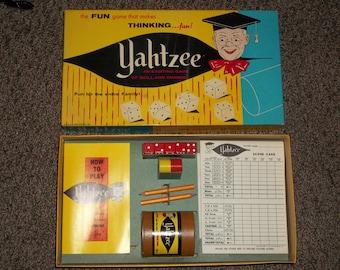 vintage Yahtzee game 1956, dice game, vintage game, vintage Yahtzee,