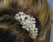 Bridal Hair Comb Wedding Jewelry Wedding Hair Comb Swarovski Pearl Swarovski Crystal Rhinestone Hair Comb  Bridal Jewelry