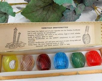 Vintage cigarette snufferettes Murano glass cigarette snuffers vintage tobacciana murano glass cigarette snuffers ashtray smoking safety