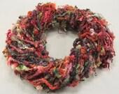 Handspun art yarn: Blue Faced Leicester locks, 4.5 oz, 42 yards
