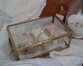 Assemblage Art glass box and corsets