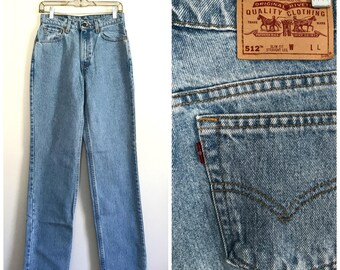 90s high waisted straight leg Levi mom slim fit jeans size 4-6