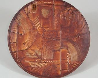 """Bertil Vallien """"Terra"""" Platter for Rorstrand Sweden 1978"""