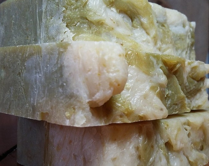 Lady Z's Ginger Limeade Soap -- Lime Ginger Soap, All Natural Soap, Handmade Soap, Barely Scented Soap, Hot Process Soap, Vegan Soap
