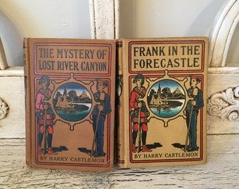 Vintage Book Set  from  1896-1904 - 2 Rustic Books for Decor or Collecting - Instant Library