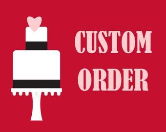 Fondant Initial Wedding Cake Decoration Custom for kirbylane