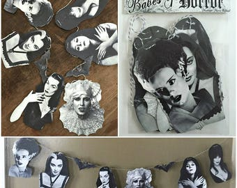 Babes of Horror - Ghastly Garland Banner