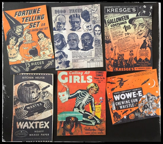 Vintage Halloween Ads All Stickers From Bedlamsupplyco