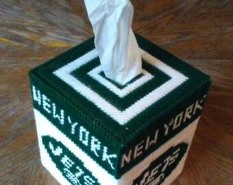 New York Jets Plastic Canvas Tissue Box Cover