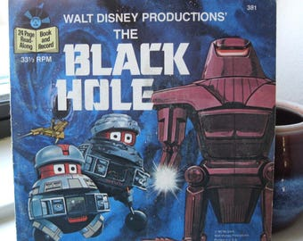 Walt Disney's The Black Hole Read Along Book and Record