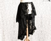 Black lace skirt, Victorian, steampunk, goth, burlesque, Maeror, Somnia Romantica, approx size medium, see item details for measurements