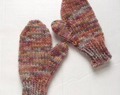 Knit Wool Women Mittens, Merino Mittens, Women Merino Mittens, Winter Gloves, Womens Winter Gloves