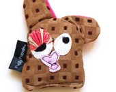 Lil Mini Plush Durable Dog Toy with Secret Heart Fortune & Squeaker - Cookie by Fugly Friends