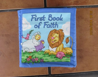 First book of Faith Thanks for Blessings Quiet Soft Fabric Baby Toddler Story Book Handmade Ready to Read