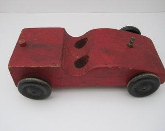 Folk Art Wooden Toy Car