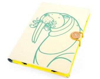 Walrus / iPad Air case, iPad cover, iPad Air cover, iPad case, Sony Xperia Z1 Z2 Z4 Samsung Galaxy Tab A 1 2 3 4 gift handmade case cover