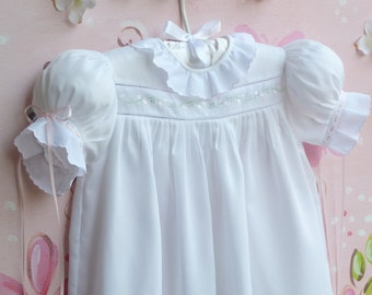 White Baby Wale Pique Dress and Slip