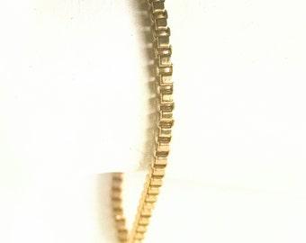 Bracelet Gold Tone Tennis Style Vintage Jewelry Jewellery Bridal Bracelet Minimalist
