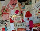 vintage Valentine journaling kit | vintage Valentine supplies | DIY | junk journal embellishments | shabby valentine ephemera | shabby chic
