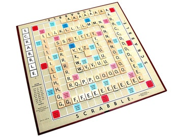 1971 Vintage Scrabble Game Logophiles 70s Board Games Selchow Righter Anagrams 100 Wood Letter Tiles Classic Gaming Infinite Word Play