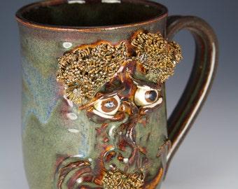 Happy face cup brown mug