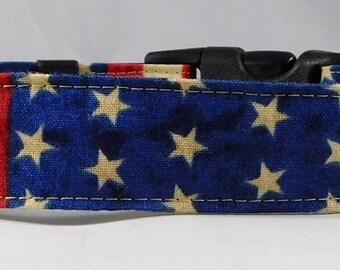 Dog Collar, Martingale Collar, Cat Collar - All Sizes -  American Flag