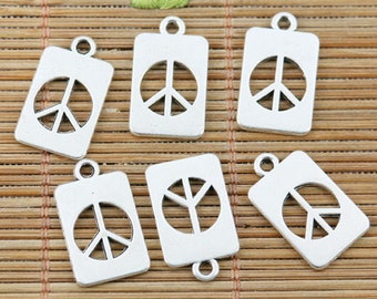 1 Cut Out Peace Sign Charm, Tag Peace Charms, Peace Sign Charms, DIY Charms, Beading Supplies, Jewelry Supplies, Jewelry Making Supplies