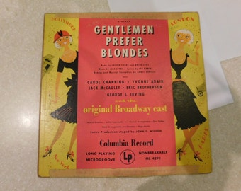 Gentlemen Prefer Blondes Original Broadway Cast LP Album