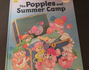The Popples and Summer Camp 1986  HC Children's Story Book