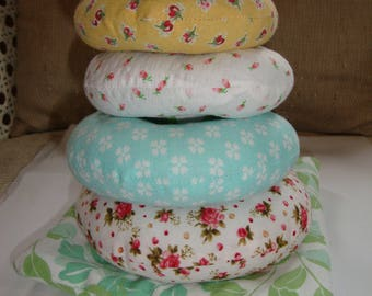 Fabric Ring Stacker, Stacking Ring toy, Rings, Fabric, Babies, Girls, Gift, Flowers