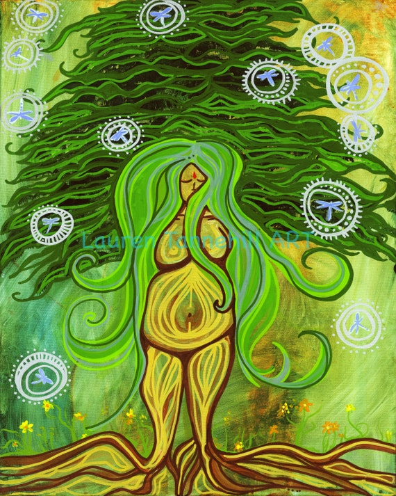 11x14 Matted Print Earth Goddess SALE!