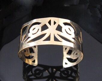 14K Gold Filled Pierced Cuff Bracelet (MX-11004-003)