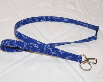 Nautical Lanyard - Breakaway Lanyard - Keychain Lanyard - Badge Holder - Teacher Lanyard