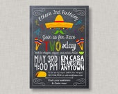 Fiesta Invitation, Fiesta Birthday Invitation, Taco Tuesday Invitation, Taco Twosday Invitation, Second Birthday Invitation, 2nd Birthday