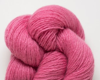 Rose Pink Fingering Weight Recycled Cashmere Yarn
