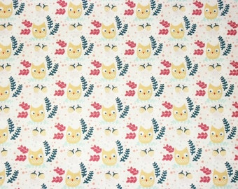 Owl Fabric, By The Yard, Dear Stella Fabrics, Wee Gallery Collection, Quilting Crafting Sewing Fabric, Cotton Fabric, Novelty Fabric