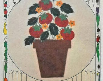 From the Garden Tomatoes Iron On T-Shirt Applique Kit, by What's New Ltd.