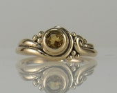 R1063- 14ky Gold Citrine Ring- One of a Kind