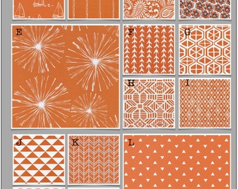 Custom Baby Crib Bedding- Design Your Own Modern Bedding- Duvet Cover- Dorm Bedding- Glider Cushions- Monarch (Orange)
