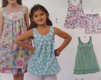 CAPRI PANTS Pattern • McCall's 6065 • Girls 7-14 • Top & Shorts • Ruffled Sundress • Sewing Patterns • Childrens Patterns • WhiletheCatNaps