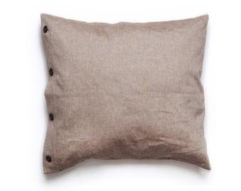 Brown pillowcases set of Two euro shams, Brown euro sham set, Brown cotton shams, Brown linen shams, Brown euro shams